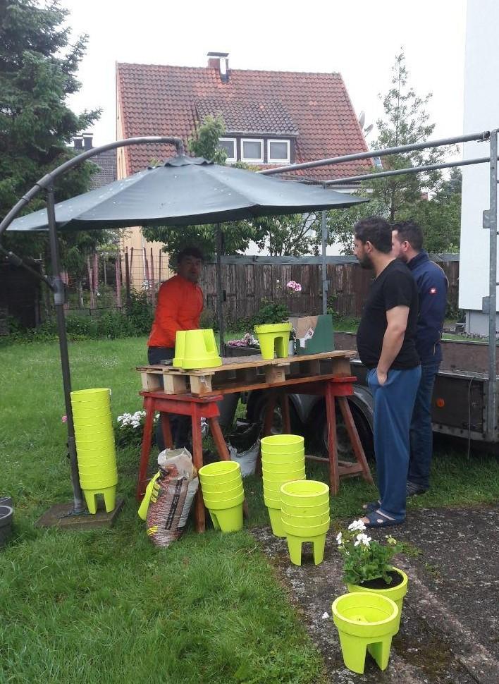 DANKE - Sommerblumen-Balkonkübel für unsere Mieter
